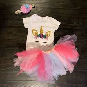 Birthday Party Tutu outfit!🦄
